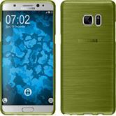 Silikon Hülle Galaxy Note FE brushed pastellgrün Case