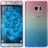 Silikon Hülle Galaxy Note FE Ombrè Design:06 Case