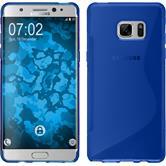 Silikon Hülle Galaxy Note FE S-Style blau Case
