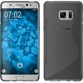Silikon Hülle Galaxy Note 7 S-Style grau