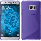 Silikon Hülle Galaxy Note FE S-Style lila Case