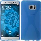 Silikon Hülle Galaxy Note FE X-Style blau Case