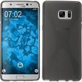 Silikon Hülle Galaxy Note FE X-Style grau Case