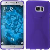 Silikon Hülle Galaxy Note FE X-Style lila Case