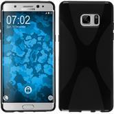 Silikon Hülle Galaxy Note FE X-Style schwarz Case