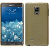 Silicone Case for Samsung Galaxy Note Edge brushed gold