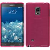 Silicone Case for Samsung Galaxy Note Edge brushed hot pink