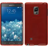 Silicone Case for Samsung Galaxy Note Edge brushed red