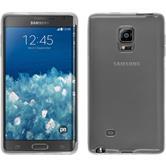 Silikon Hülle Galaxy Note Edge transparent weiß + 2 Schutzfolien