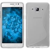 Silikon Hülle Galaxy On5 S-Style clear + 2 Schutzfolien