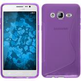 Silikon Hülle Galaxy On5 S-Style lila + 2 Schutzfolien