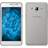 Silikon Hülle Galaxy On5 Slimcase grau + 2 Schutzfolien