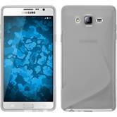 Silikon Hülle Galaxy On7 S-Style clear + 2 Schutzfolien