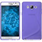 Silikon Hülle Galaxy On7 S-Style lila + 2 Schutzfolien
