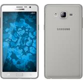 Silikon Hülle Galaxy On7 Slimcase grau + 2 Schutzfolien