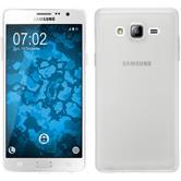 Silikon Hülle Galaxy On7 transparent weiß + 2 Schutzfolien