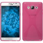 Silikon Hülle Galaxy On7 X-Style pink + 2 Schutzfolien