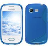 Silikonhülle für Samsung Galaxy Pocket Neo S-Style blau
