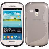 Silikon Hülle Galaxy S3 Mini S-Style grau