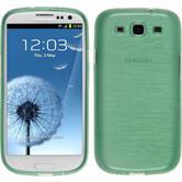 Silikon Hülle Galaxy S3 Neo brushed grün