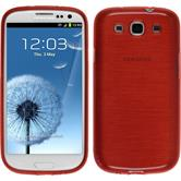 Silicone Case for Samsung Galaxy S3 Neo brushed red