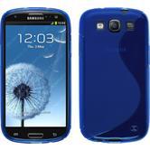 Silikon Hülle Galaxy S3 Neo S-Style blau + 2 Schutzfolien