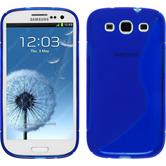 Silicone Case for Samsung Galaxy S3 Neo S-Style dark blue