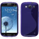 Silikon Hülle Galaxy S3 Neo S-Style lila + 2 Schutzfolien
