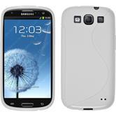 Silikon Hülle Galaxy S3 Neo S-Style weiß + 2 Schutzfolien