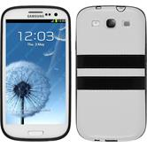 Silikon Hülle Galaxy S3 Neo Stripes weiß