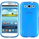 Silikon Hülle Galaxy S3 Neo X-Style blau + 2 Schutzfolien