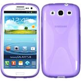 Silikon Hülle Galaxy S3 Neo X-Style lila + 2 Schutzfolien