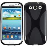 Silikon Hülle Galaxy S3 Neo X-Style schwarz