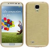 Silikonhülle für Samsung Galaxy S4 brushed gold