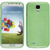 Silicone Case for Samsung Galaxy S4 brushed green