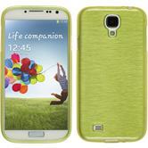 Silikon Hülle Galaxy S4 brushed pastellgrün Case