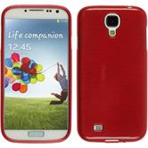 Silicone Case for Samsung Galaxy S4 brushed red
