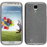 Silicone Case for Samsung Galaxy S4 brushed silver
