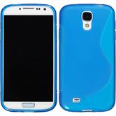 Silicone Case for Samsung Galaxy S4 S-Style blue
