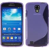 Silikonhülle für Samsung Galaxy S4 Active S-Style lila