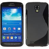 Silikonhülle für Samsung Galaxy S4 Active S-Style schwarz