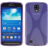 Silicone Case for Samsung Galaxy S4 Active X-Style purple