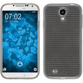 Silikon Hülle Galaxy S4 Iced grau + 2 Schutzfolien