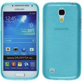 Silicone Case for Samsung Galaxy S4 Mini brushed blue