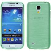 Silicone Case for Samsung Galaxy S4 Mini brushed green