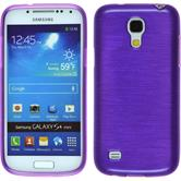 Silicone Case for Samsung Galaxy S4 Mini brushed purple