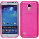 Silicone Case for Samsung Galaxy S4 Mini brushed hot pink