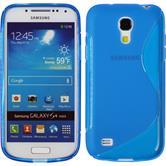Silikon Hülle Galaxy S4 Mini S-Style blau