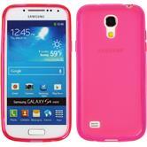 Silikon Hülle Galaxy S4 Mini Frosted pink + 2 Schutzfolien