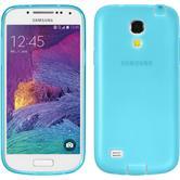 Silikon Hülle Galaxy S4 Mini Plus I9195 Dustproof hellblau + 2 Schutzfolien